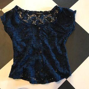 Streetwear Society Blue Lace Top